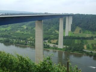 Moseltalbrücke - Mosel, Straßenbau, Autobahn, Fluss, Rheinland-Pfalz, Architektur