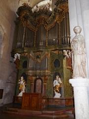 Orgel Stift Heiligenstein - Musik, Orgel, Kober, Schubert, Fuge, Register, Pfeifen, Religion, Stift, Heiligenkreuz, Barock, Statue, Skulptur