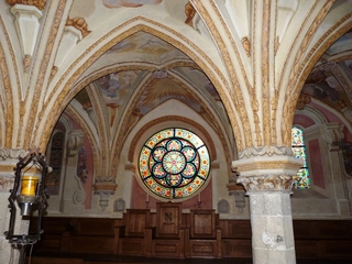 Kapitelsaal (Heiligenkreuz) - Religion, Heiligenkreuz, Abt, Kapitel, Glasfenster, Pfeiler, romanisch, klassizistisch