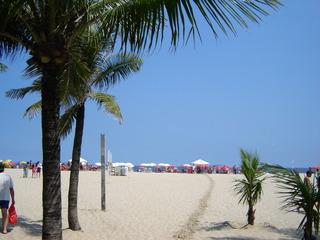 Copacabana - Rio, Rio de Janeiro, Copacabana, Palmen, Strand, Brasilien, Sandstrand