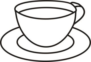 Tasse - Tasse, Teller, Kaffee, Kaffeetasse, trinken, Anlaut T, Tee, Wörter mit ee, Wörter mit Doppelkonsonanten