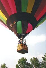 Ballonfahrt #12 - Ballon, Ballonfahrt, Heißluft, Heißluftballon, Auftrieb, Luft, fliegen, bunt, Feuer, Korb