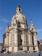Frauenkirche Dresden  - Kirche, Dresden, Frauenkirche, Wiederaufbau, Geschichte, Kunst, evangelisch-lutherisch Kirche, Barock, Sandsteinbau, Sakralbau, Kuppelbau