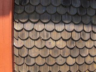 Holzschindeln - Holz, Holzschindeln, Wand, Wandverkleidung, Baumaterial, natürlich, braun, Struktur, Muster, Schindel