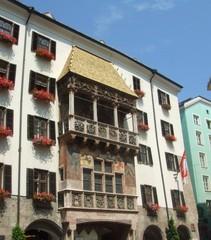 Goldenes Dachl - Innsbruck, Tirol, Architektur, spätgotisch, Prunkerker, Wahrzeichen, Schindeln