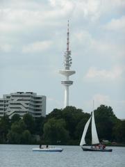 Hamburger Fernsehturm #2 - Heinrich-Hertz-Turm, Hamburg, Fernsehturm, Radio, Rundfunk, Fernmeldeturm, Telemichel, Wahrzeichen, Turm, Alster