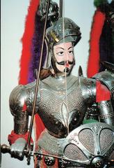 Marionette - Marionette, Marionettentheater, Theater, Puppe, Figur, Volkskunst, Puppentheater, Mittelalter, Krieger, Rüstung, Kostüm