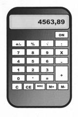 Taschenrechner - Taschenrechner, rechnen, Rechner, elektronisch, Mathematik, Schule, Anlaut T, addieren, multiplizieren, dividieren, subtrahieren, Hilfsmittel, Kopfrechnen, Prozent, Wurzel