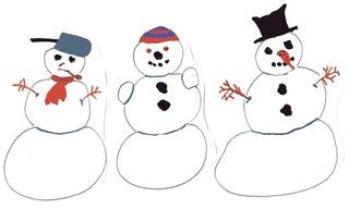 Schneemänner - Schneemann, Winter, Schnee, Anlaut Sch, Illustration