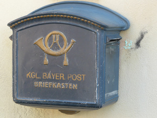 alter Briefkasten - Briefkasten, Post, Brief, Rothenburg, bayerische Post