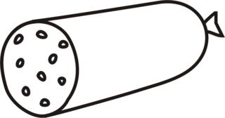 Кусок колбасы раскраска