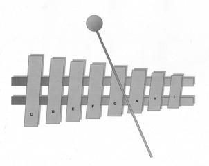 Xylophon, Glockenspiel - Xylophon, Glockenspiel, Schlaginstrument, Metall, Holz, Anlaut X, Percussion, Schlägel, Klöppel, Orff, Musik, Ton, Töne, Tonleiter, Klang, klingen, spielen, Melodie, Instrument, Musikinstrument, Wörter mit x
