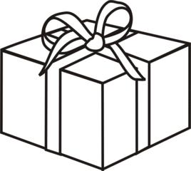 Geschenk - Geschenk, schenken, Geburtstag, Weihnachten, Paket, Anlaut G, Illustration, Wörter mit sch