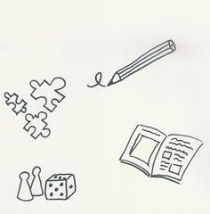 Piktogramm  1. Klasse freie Arbeit - freie Arbeit, Freiarbeit, offener Unterricht, schreiben, spielen, lesen, Piktogramm_Stundenplan1