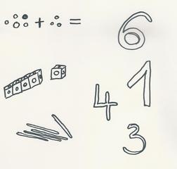 Piktogramm 1. Klasse rechnen - rechnen, Zahlen, Eins, Drei, Vier, Sechs, Rechnung, Plus, Hölzer, Piktogramm_Stundenplan1, Mathematik, Mathe