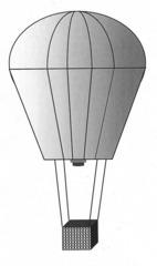Heißluftballon #1 - Heißluftballon, Ballon, fliegen, fahren, Luft, Luftfahrzeug, Auftrieb, Korb, Physik, Transport