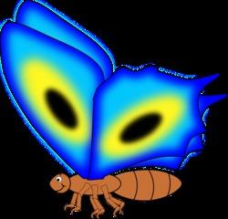Schmetterling - Schmetterling, Falter, Flügel, Anlaut S, Anlaut Sch, Insekt, blau