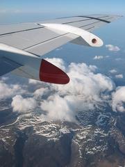 Balkan 4 - Flugzeug, Wolken, Gebirge, Aussicht, fliegen, verreisen, Urlaub, Schrägbild