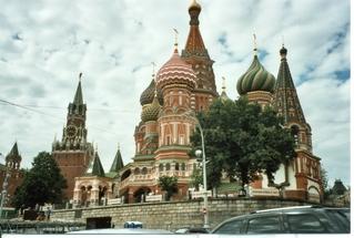 Basilius Kathedrale (Moskau) - Moskau, Basilius Kathedrale, Roter Platz, Kathedrale Basilius des Seligen, Wahrzeichen, Kuppel, Backsteinbau, Zwiebeltürme, russisch