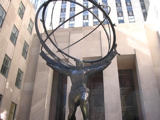 New York - Rockefeller Center - Amerika, USA, New York, Rockefeller Center, Atlas, Statue, Moderne Kunst