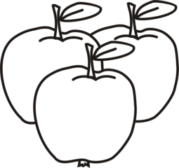 Äpfel - Apfel, Äpfel, drei, Obst, Frucht, Anlaut Ae, Wörter mit pf