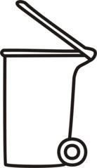 Mülltonne - Mülltonne, Müll, Aschentonne, Müllabführ, Abfall, Papiertonne, Tonne, Anlaut M, Anlaut T, Mistkübel