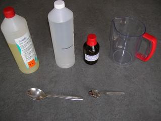 Seifenblasen #1 - Spülmittel, destilliertes Wasser, Glyzerin, Kanne, Löffel, Seifenblasen, Seifenblasenlösung, Seifenblase, Herstellung, Anleitung