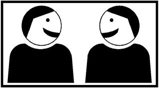Piktogramm Kooperatives Lernen Partnerarbeit #2 - Partnerarbeit, Sozialform, Arbeitsform, Dialog, Gespräch, Gedankenaustausch, sprechen, reden, austauschen, zwei