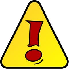 Merksymbol - Symbol, Symbolkarte, Icon, Merken, Ausrufezeichen, Dreieck, Rufzeichen, Achtung, Vorsicht