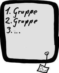 Gruppenarbeitssymbol - Symbol, Symbolkarte, Icon, Gruppenarbeit, Tafel, Stationenarbeit, Station