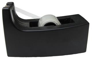 Tesafilm-Abroller - Tesafilm, Klebefilm, Abroller, Tischabroller, Schreibtisch, kleben, basteln, Büromaterial, schwarz, Ordnung