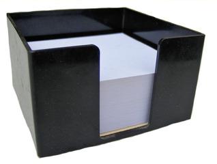 Zettelbox - Zettelbox, Zettelblock, Notizzettel, Zettelbehälter, schwarz, weiß, Schreibtisch, Notizen, schreiben, Ordnung, quadratisch