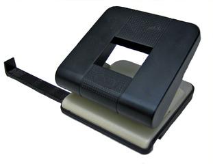 Locher - Locher, Büromaterial, Schreibtisch, Ordnung, lochen, Ablage, schwarz, Perforator, stanzen, Stanzwerkzeug, Anschlagleiste