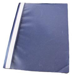 Schnellhefter aus Kunststoff - Hefter, Schnellhefter, Mappe, Plastik, Kunststoff, blau, Klarsicht, durchsichtig, Hausaufgaben, schreiben, Ordnung, Schriftgutbehälter, sammeln, ordnen
