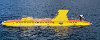 U-Boot - U-Boot, Unterseeboot, Wasser, Boot, Tourismus, Wasserfahrzeug, Meer, gelb
