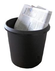 Papierkorb - Papierkorb, Abfalleimer, Abfall, Büro, wegwerfen, entsorgen, schwarz, rund, Müll, Papiermüll