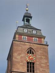 Kirchturm - Kirchturm, Kirche, Stiftskirche, Türmerwohnung, Turm, Haus, Turmuhr, Gotik