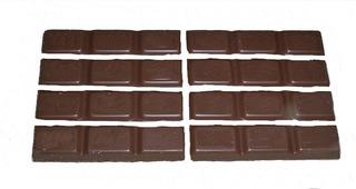 Bruchrechnung mit Schokolade #6 - Schokolade, Tafel, braun, süß, naschen, Stücke, Naschwerk, lecker, Bruch, Bruchrechnen, Teil, Teile, teilen, aufteilen, Brüche, Bruchteile, Bruchrechnung, Achtel, acht.