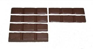 Bruchrechnung mit Schokolade #7 - Schokolade, Tafel, braun, süß, naschen, Stücke, Naschwerk, lecker, Bruch, Bruchrechnen, Teil, Teile, teilen, aufteilen, Brüche, Bruchteile, Bruchrechnung, Achtel, acht.