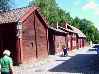 Schwedische Häuser - Häuser, Haustypen, Schweden, rot, rote Farbe, Holzhäuser