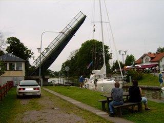 Hebebrücke - Brücke, Hebebrücke, Schweden, Götakanal, Kanal, Schifffahrt