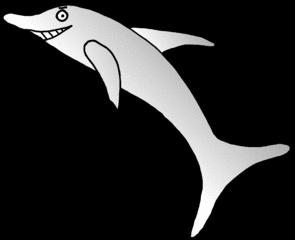 Delphin #1 - Tier, Meer, Säugetier, Delfin, Delphin, springen, Anlaut D