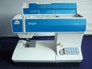 Pfaff select 2.0 - Nähmaschine, elektrisch, nähen, Elektromotor, Naht, Gewebe, verbinden, Zierstiche, Nutzstiche, Knopfloch, Nadel, Faden, Antrieb, Kurbelwelle