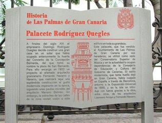 Historia de Las Palmas de Gran Canaria - Schild in Las Palmas - Schild, Spanisch, Las Palmas, Gran Canaria, Geschichte