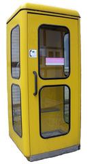Telefonzelle - Telefonzelle, telefonieren, Gespräch, Kommunikation, öffentlich, Münztelefon, Telefon, telefonieren, gelb, Post, Deutsche Bundespost, Telekom