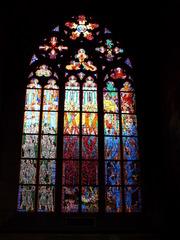 buntes Kirchenfenster - Kirche, Fenster, Kirchenfenster