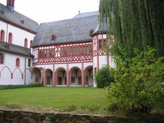 Kreuzgang Kloster Eberbach #2 - Gewölbe, romanisch, Kloster, Kreuzgang, Kreuzgewölbe, Fachwerk