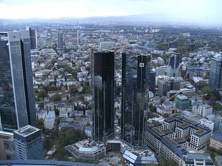 Frankfurt/Main #1 - Frankfurt/Main, Blick, Stadt, Skyline, Hochhäuser, Maintower