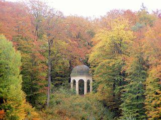 Herbstimpression - Herbst, Jahreszeit, Ansichten, Eindrücke, Meditation, Perspektiven, Pavillion, Halbkugel