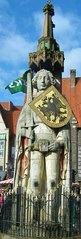 Rolandfigur in Bremen - Roland, Bremen, Mittelalter, Markt, Marktplatz, Schutz, Rolandfigur